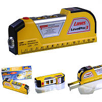 Лазерный уровень Easy Fix Laser Level Pro 3 со встроенной рулеткой, фото 1