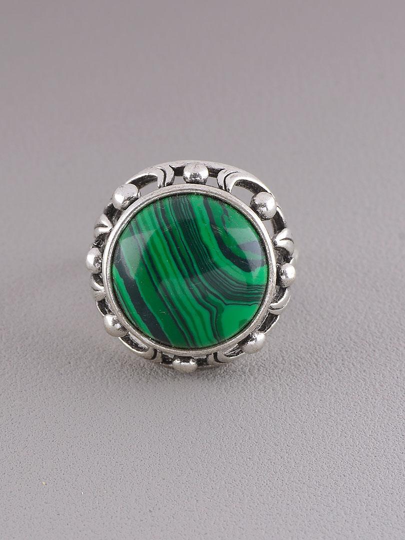 Кольцо Малахит (серебро)