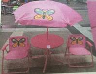 Летний набор стол + 2 стула BT-TC-0004 бабочки