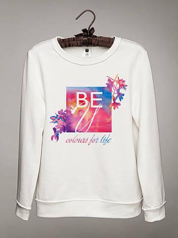 Женский светшот (свитшот) с принтом BEU (логотип)