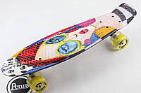 СКЕЙТ PRINT, PENNY BOARD ORIGINAL 22 C РИСУНКОМ FACE AND GLASSES SZ-3