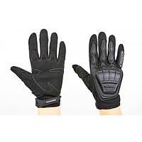Мотоперчатки комбинированные с закрытыми пальцами и протектором SCOYCO