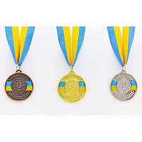 Медаль спортивная с лентой UKRAINE