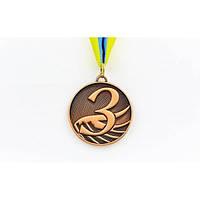 Медаль спортивная с лентой FURORE 3-место бронза