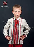 Вишиванка з коміром для хлопчика, арт. 0127-сіра