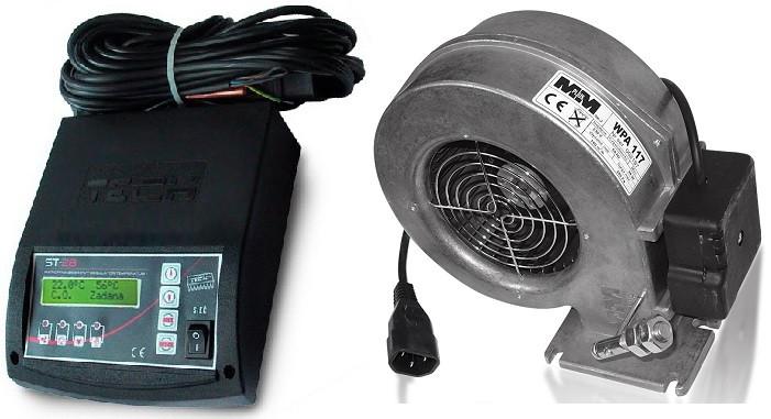 Комплект автоматики для котла Tech ST-28 + вентилятор WPA120