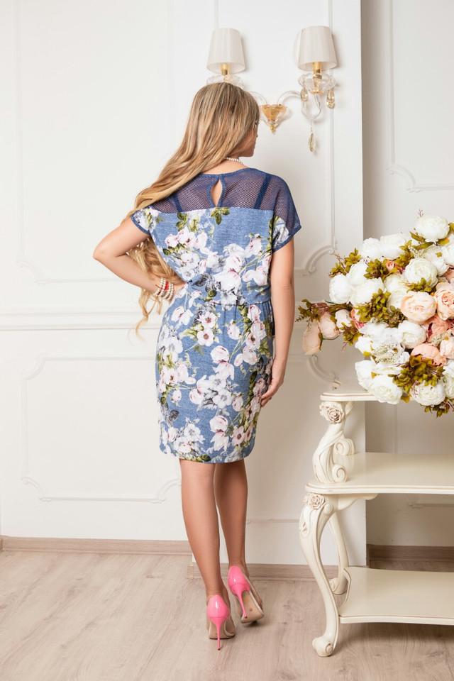 Фото-1 Батального летнего красивого платья Ира-1