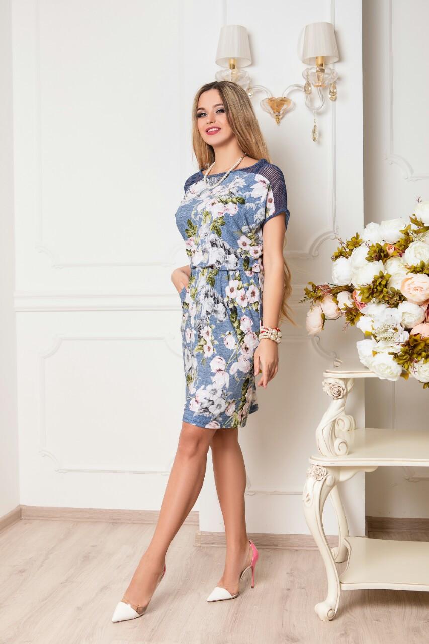 Батальное летнее красивое платье Ира-1