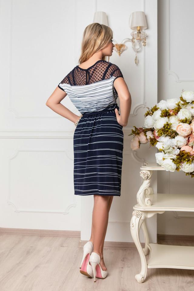 Фото-1 Батального летнего красивого платья Ира-3