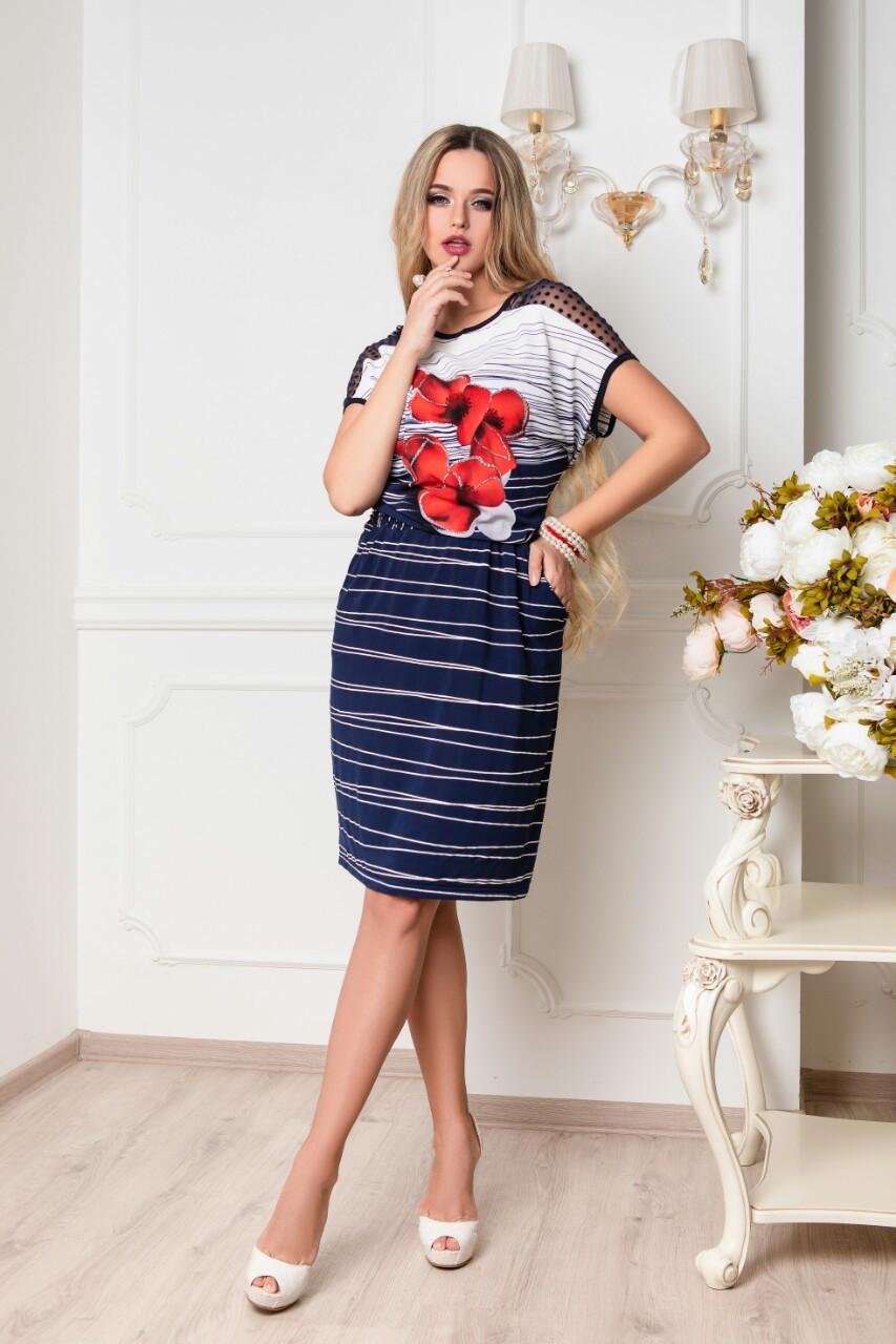 Батальное летнее красивое платье Ира-3