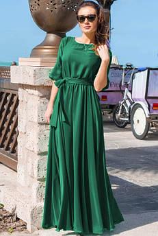 Довге плаття Інеса, смарагдове