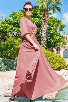 Шифоновое платье Инесса, персик