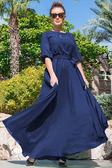 Элегантное платье в пол Инесса, синий