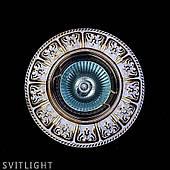 Точечный светильник встраиваемый SPOT 50 WHITE GOLD Artglass