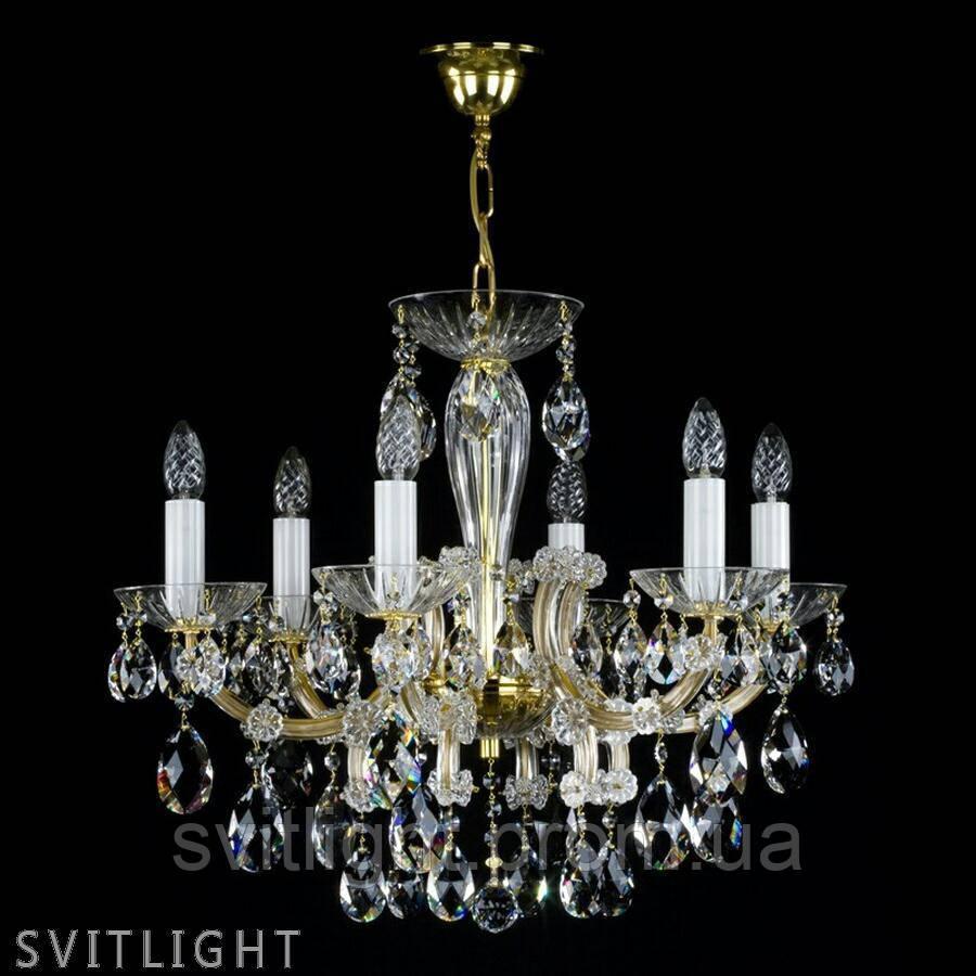 Классическая люстра на 6 лампочек MARIA TEREZIA 21 VACHTLE CE Artglass