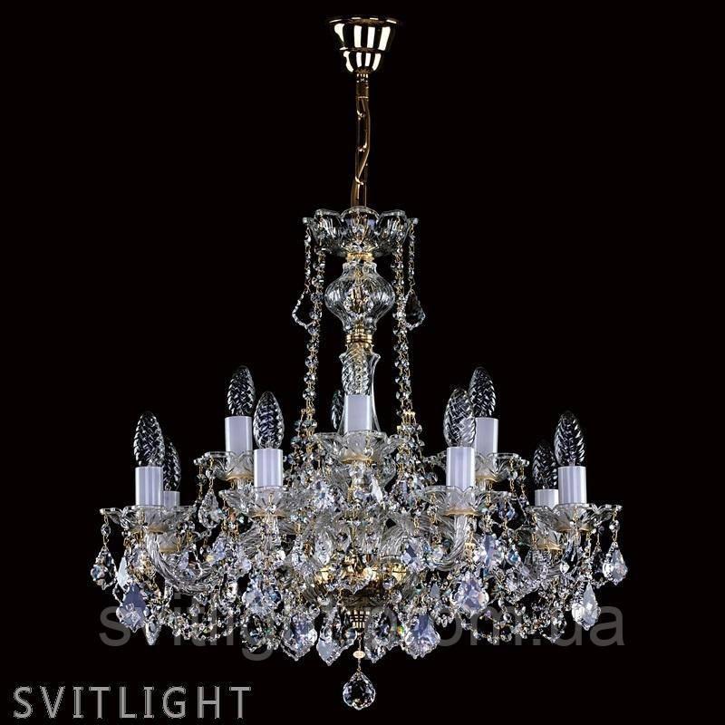 Классическая люстра свеча COURTNEY XII. VA-PE CE Artglass
