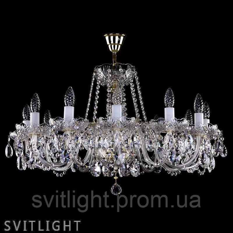 Люстра кришталева на 10 лампочок ELSA X. CE Artglass