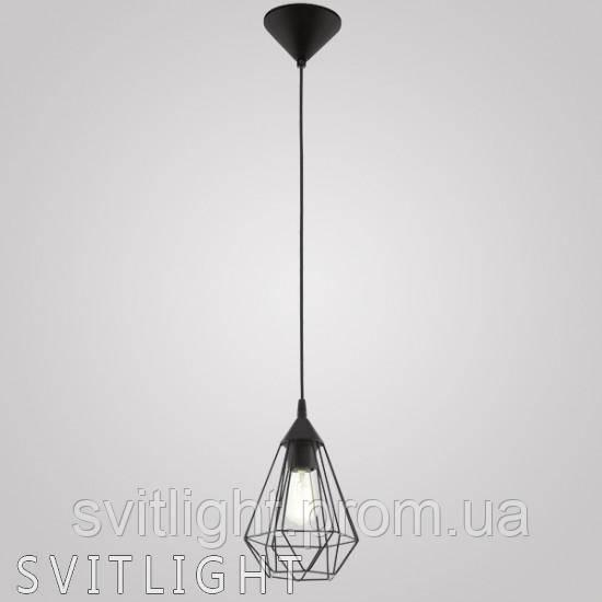 Подвесной светильник на 1 лампочку 94187 Eglo. Материал арматуры пластик Цвет арматуры черный Материал плафона