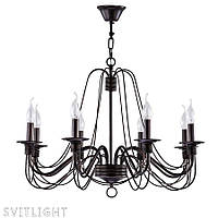 Люстра свечи венге на 8 лампочек FR046-08-B/FR2046-PL-08-BR Freya
