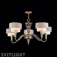 Люстра с абажуром на 5 лампочек H311-05-G Германия