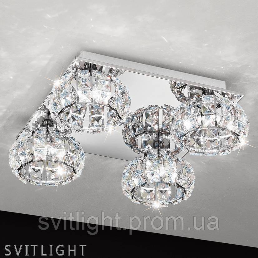Люстра хрустальная потолочная на 4 лампочки 39009 Eglo