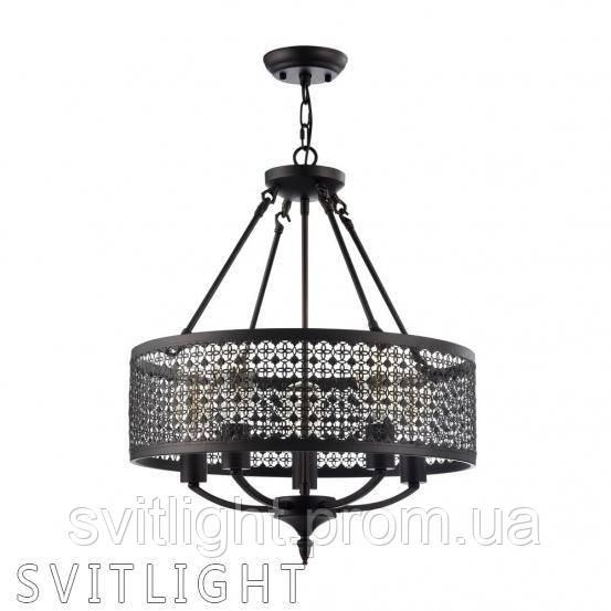 Люстра на 5 лампочек FR166-05-R/FR4166-PL-05C-BL Freya. Серия Conte представлена cветильниками на 3 и 5 лампы