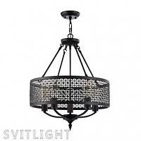Люстра на 5 лампочек FR166-05-R/FR4166-PL-05C-BL Freya. Серия Conte представлена cветильниками на 3 и 5 лампы, фото 1
