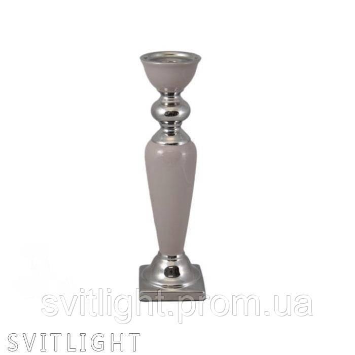 Подсвечник керамический кофейного цвета 444-445 коф Al