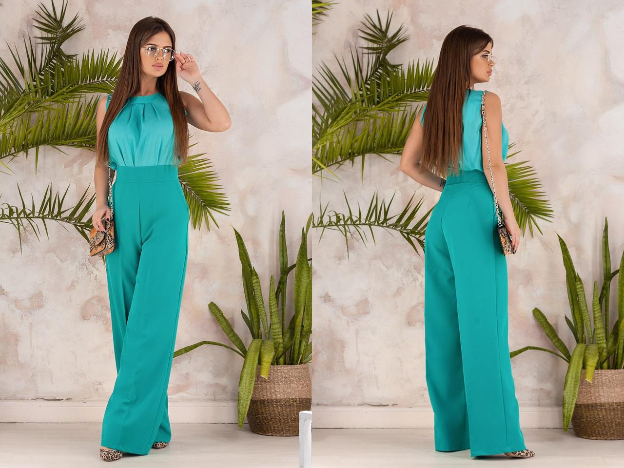 """Высокие женские брюки прямого кроя """"ODEY"""" с карманами (6 цветов)"""