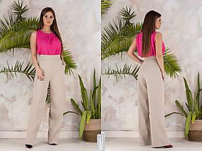 """Высокие женские брюки прямого кроя """"ODEY"""" с карманами (6 цветов), фото 3"""