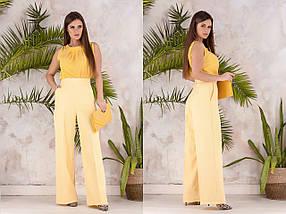"""Высокие женские брюки прямого кроя """"ODEY"""" с карманами (6 цветов), фото 2"""