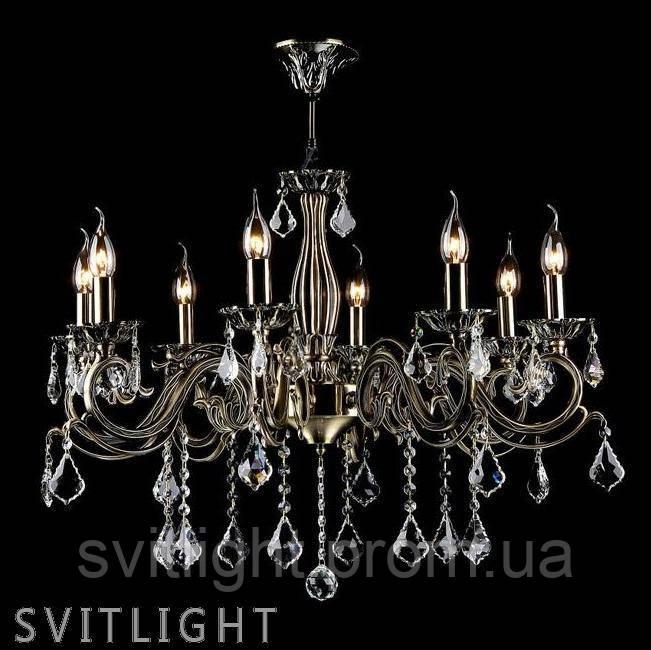 Люстра со свечами подвесная ARM245-08-R/ RC245-PL-08-R . Материал основания: Металл Цвет основания: Бронза