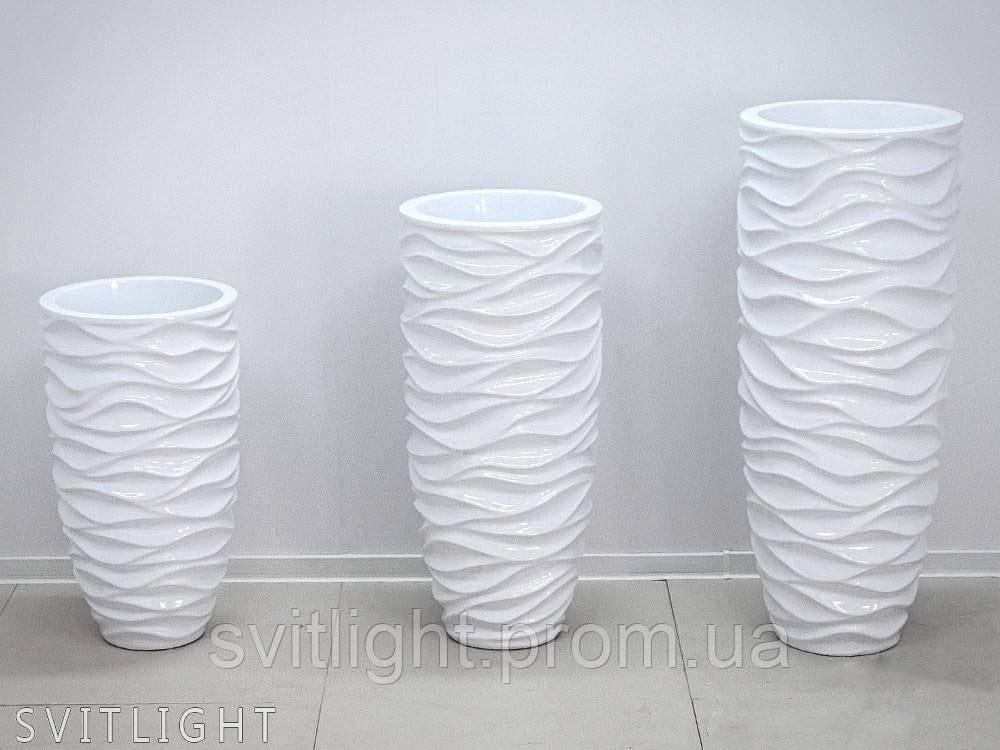 Вазон білий 2028/2 WH (33x33x60 см)