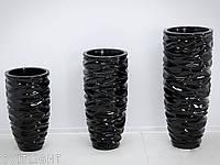 Вазон чёрный 2028/3 BK (35x35x76 см), фото 1