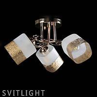 Потолочный светильник на три плафона L2154/3FGD SR Svitlight