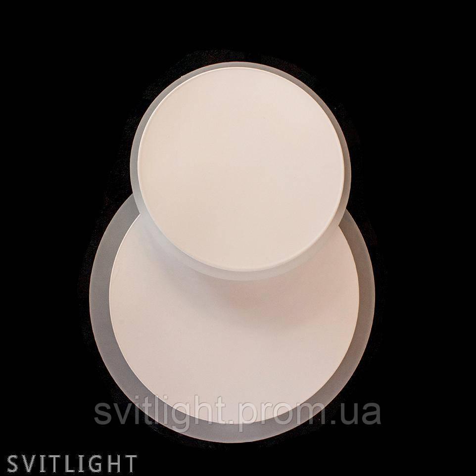 Настенно-потолочный лед светильник V2192/18W WH R Svitlight. Светодиодный светильник круглой формы