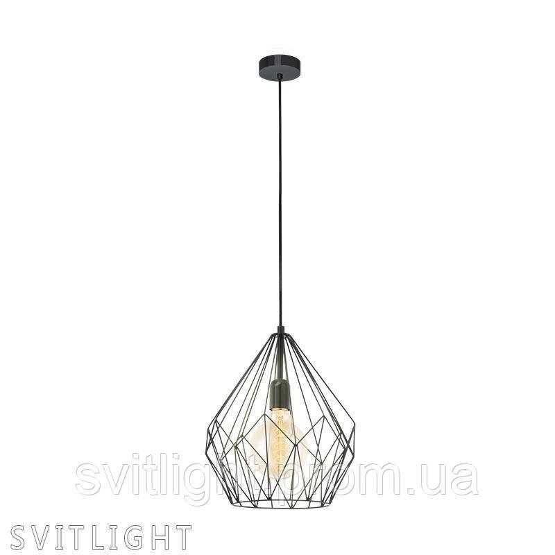 Подвесной светильник на 1 лампочку 49257 Eglo. Материал: Сталь Цвет : Черный