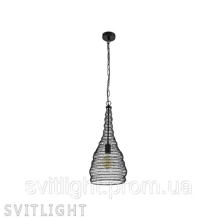 Подвесной светильник на 1 лампочку 49127 Eglo. Материал: Сталь Цвет : Черный