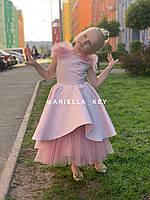 Нарядное платье для девочки пудрового цвета