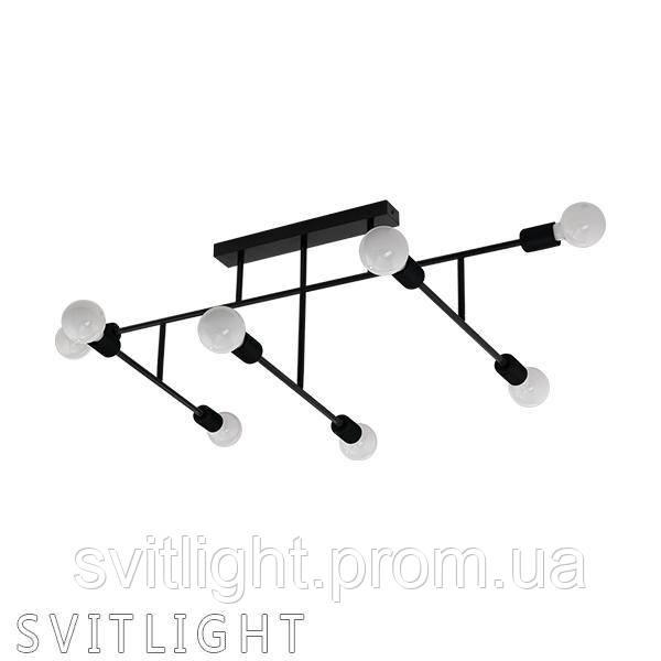 Лофт люстра потолочная на 8 лампочек (Черный) 98035 Eglo