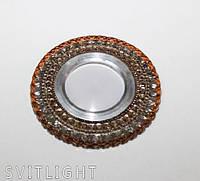 Точечный светильник встраиваемый 7015 Coffe LS Svitlight. Врезной точечный светильник для подвесных, фото 1