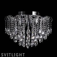 Люстра хрустальная потолочная на 6 лампочек P5-E1427/6+6 CH Svitlight