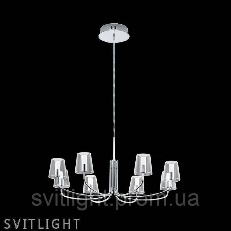 Люстра подвесная на 8 лампочек 96516 Eglo. Материал арматуры: Металл Материал плафона: Стекло Цвет арматуры: