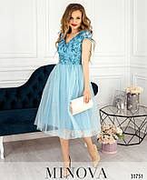 b292fb613eb Нежное платье с пышным подолом из фатина размеры S-L