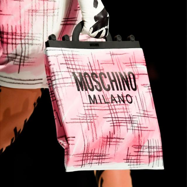 Женская сумочка для покупок Moschino Shopper Brushstroke Tweed
