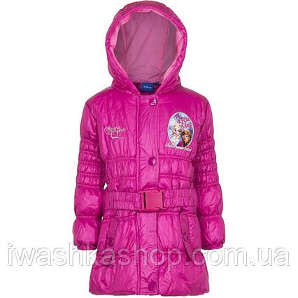 Стильная демисезонная куртка с поясом Frozen, Холодное сердце на девочку 4 лет, р. 104, Disney / Frozen.