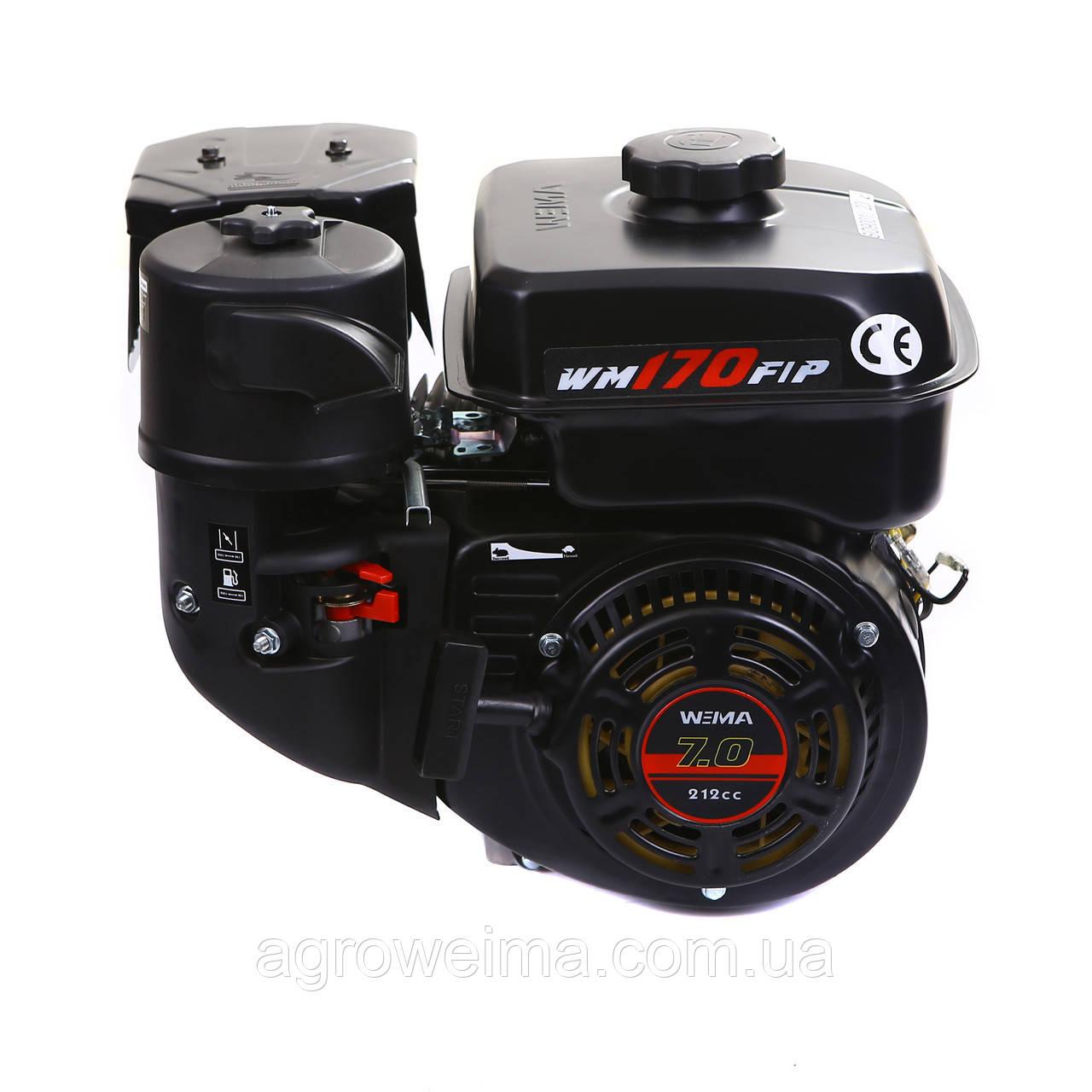Двигатель бензиновый WEIMA WM170F-T/20 NEW (ШЛИЦЫ 20 ММ) 7 Л.С.