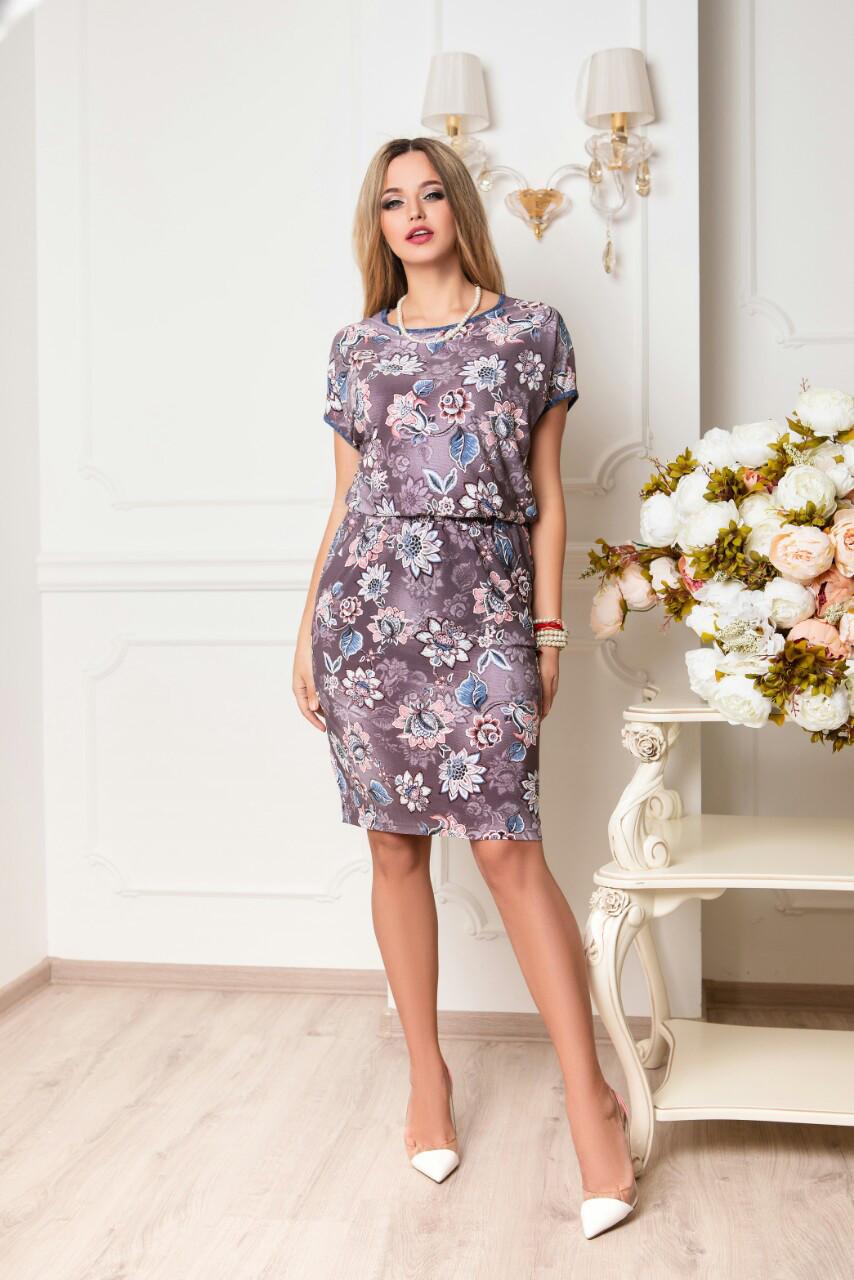Платье батальное летнее Зарина
