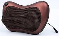 Массажер роликовый для спины и шеи массажная подушка 8028 с подогревом