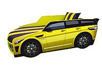 Кровать машина Премиум Land Rover желтая